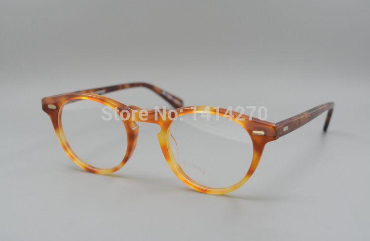 Oliver peoples ov5186 Gregory Peck fashion round eyeglasses frames Vintage optical myopia women and men eyewear prescription sun lens