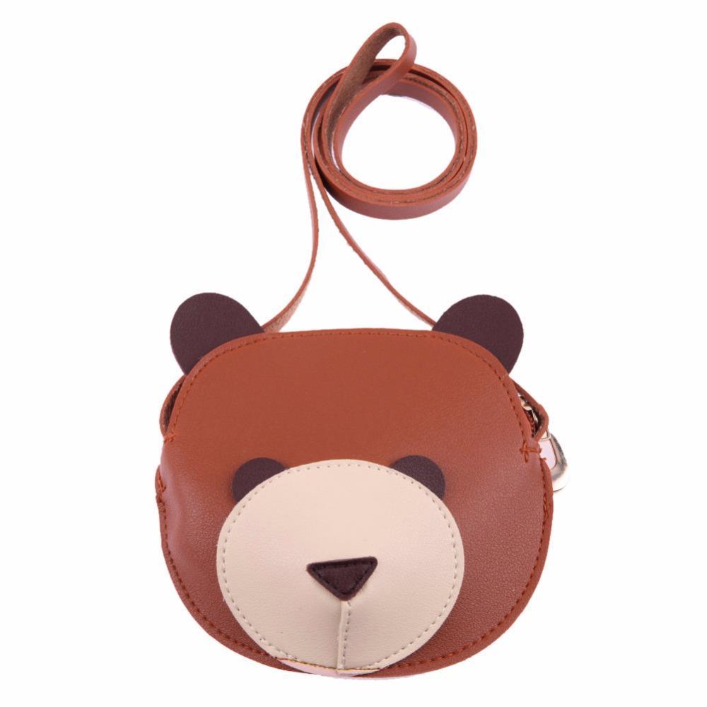 Cute Cartoon Bear Wallet Kids Storage Sling PU Shoulder Mini ... 655f92deb10b8