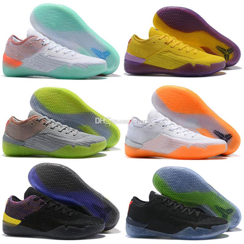 info for b9b1b f90e5 2018 New Kobe 360 AD NXT Yellow Orange Strike Derozan Basketball Shoes Mens  Trainers Wolf Grey Purple Sneakers Size 7-12