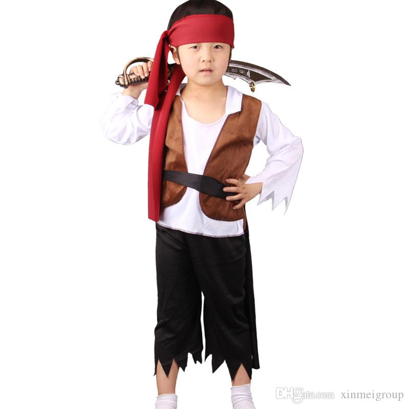 Cute Children s Full Sleeve Classic Halloween Costumes Boys Pirate Costume  Kid Carnival Costume For Kids Boys Cosplay Costume WZ120014