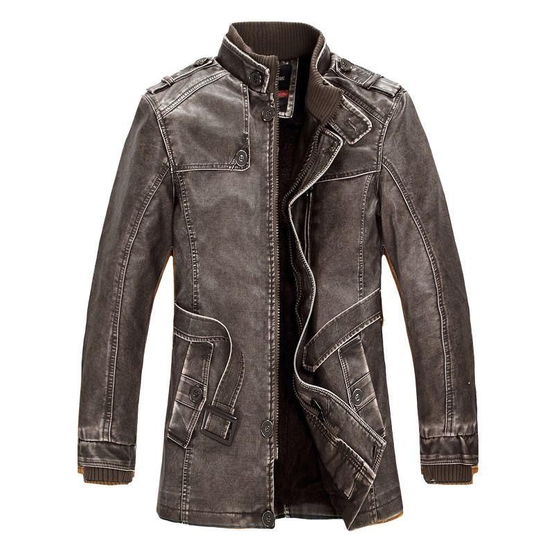 Chaquetas de cuero de la motocicleta de moda forro chaqueta de piel sintética para hombre de invierno polar gruesa cálida gabardina Jaqueta de couro M-4XL
