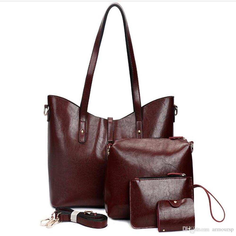 New Set Designer Women Fashion Bags Ladies Handbag Sets Leather Shoulder Office Tote Bag Cheap Womens Shell Handbags Sale Hand bag