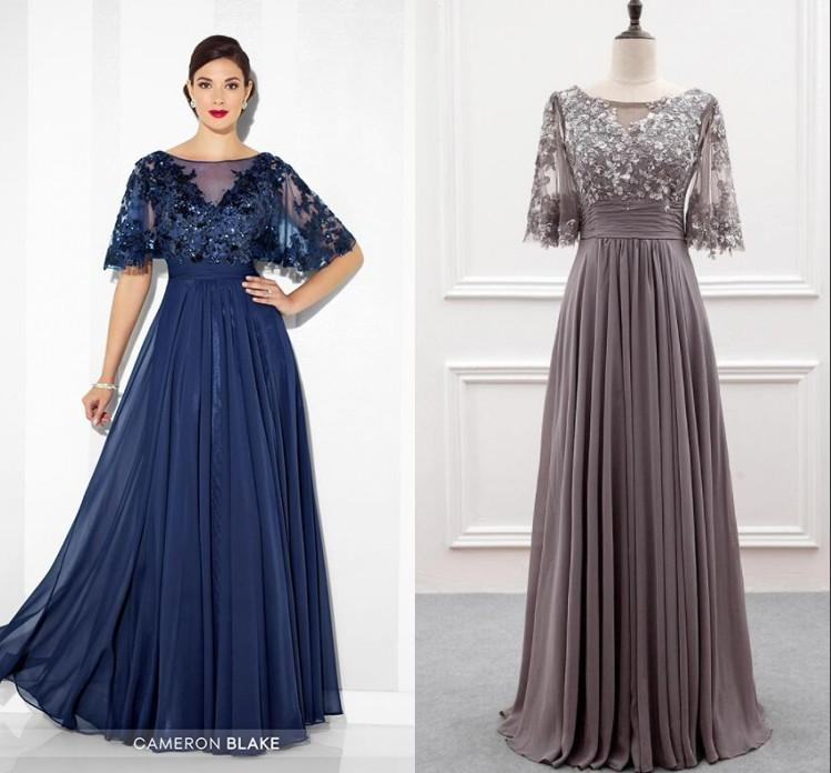 da1aef019a9 Country Wedding Mother Of The Bride Dress 2018 Jewel Neckline 1 2Long  Sleeve A Line Party Dresses Gowns Beautiful Bride Groom Dress Mother Of The  Bride ...