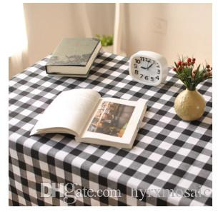 Black And White Plaid Western Table Cloth Simple Modern Plaid Grid Fabric  Tablecloth Tablecloth Wholesale Wedding Table Cloth Wholesale Linen  Tablecloths ...