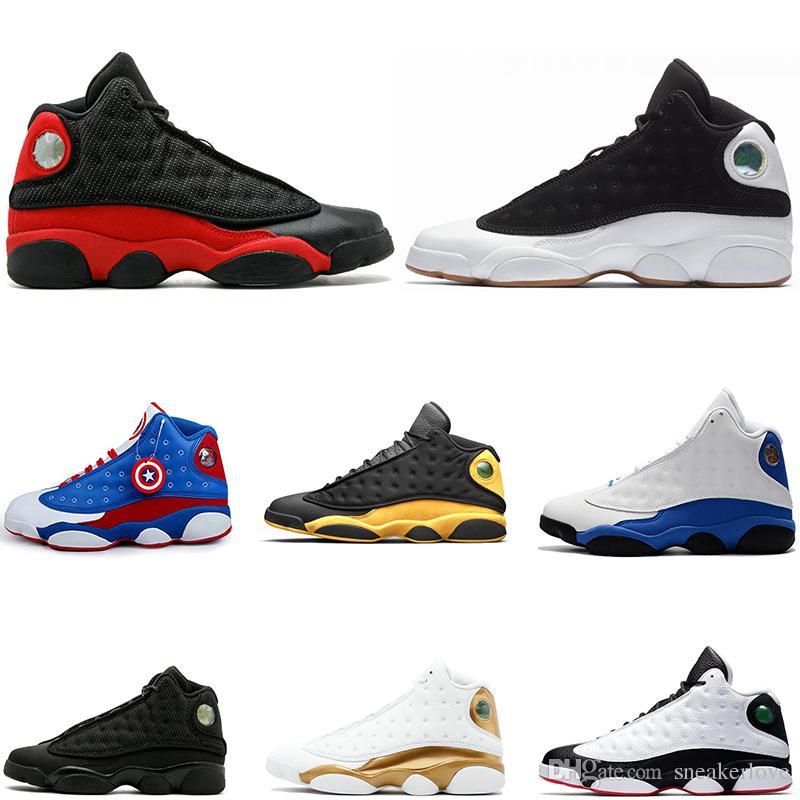 best value faf47 f4ebd He Got Game 13 GS black white 13s DMP Phantom Italy blue men basketball  shoes black cat playoff Chicago bred trainer cheap Sneaker
