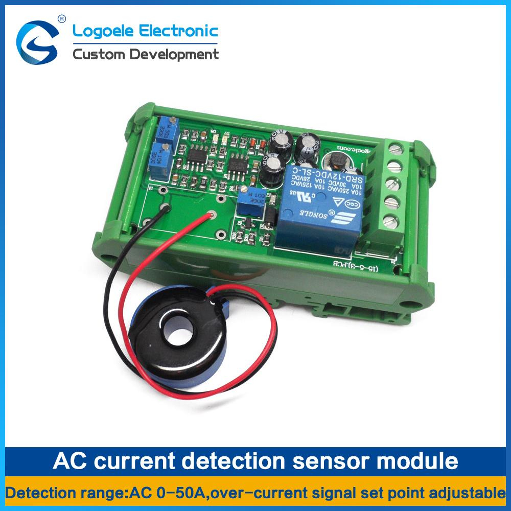 High Quality Ac 0 50a Dc24v Current Sensor Module Switch Output Detector Circuit 5a Full Range Of Linear Home Control Diy Automation From Soba