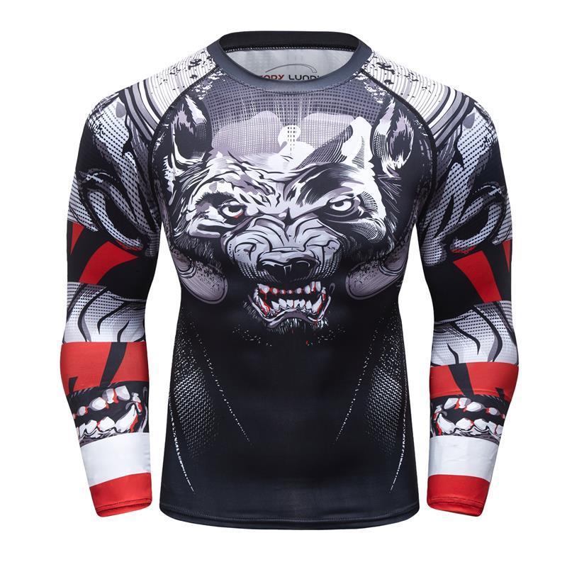 Compre 2018 Nuevos Hombres Camiseta Milagrosa Impresión 3D Dominante Cabeza  De Lobo De Impresión MMA Hombres Camisa De Compresión BJJ Gimnasios Camiseta  De ... 3b2c1a10e87a0