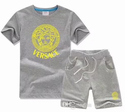 1cd093bbd458 Designer Baby Boy s T-shirt Pants Two-piec 2-7 Years Olde Suit Kids ...