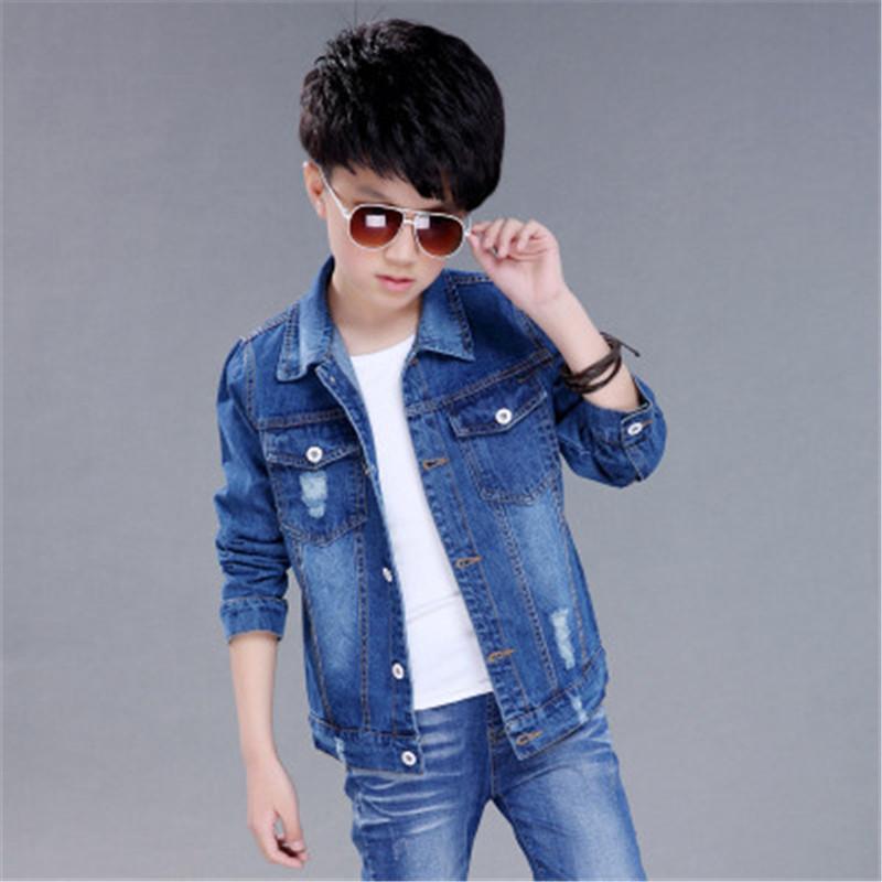 e0e15f6d1 2018 Autumn Boys Jeans Jacket Children Clothes Kids Denim Jackets ...