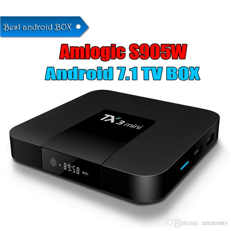 1 PCS Amlogic S905W TX3 MINI Box TV Android 7 1 Quad Core Wifi H 265 4 K  Media Box Inteligente HD Streaming Player Melhor MXQ Pro X96 Mini