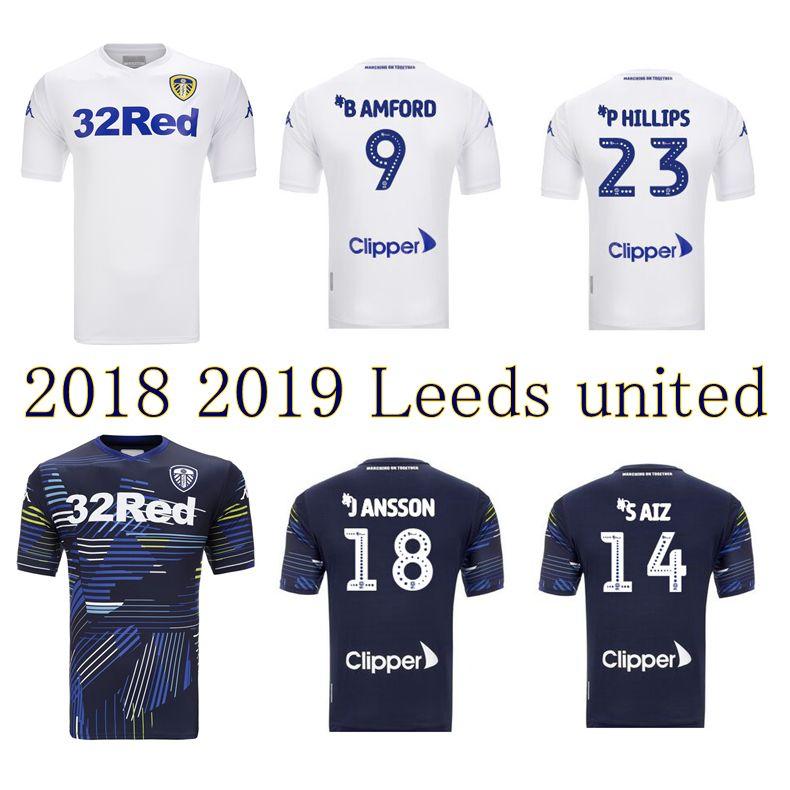 f78534dbd 2019 2018 2019 Leeds United Soccer Jerseys 18 19 Leeds Home Away Shirts  ALIOSKI JANSSON BAMFORD COOPER SAIZ ROOFE Football Shirt From Wenxuan 0920