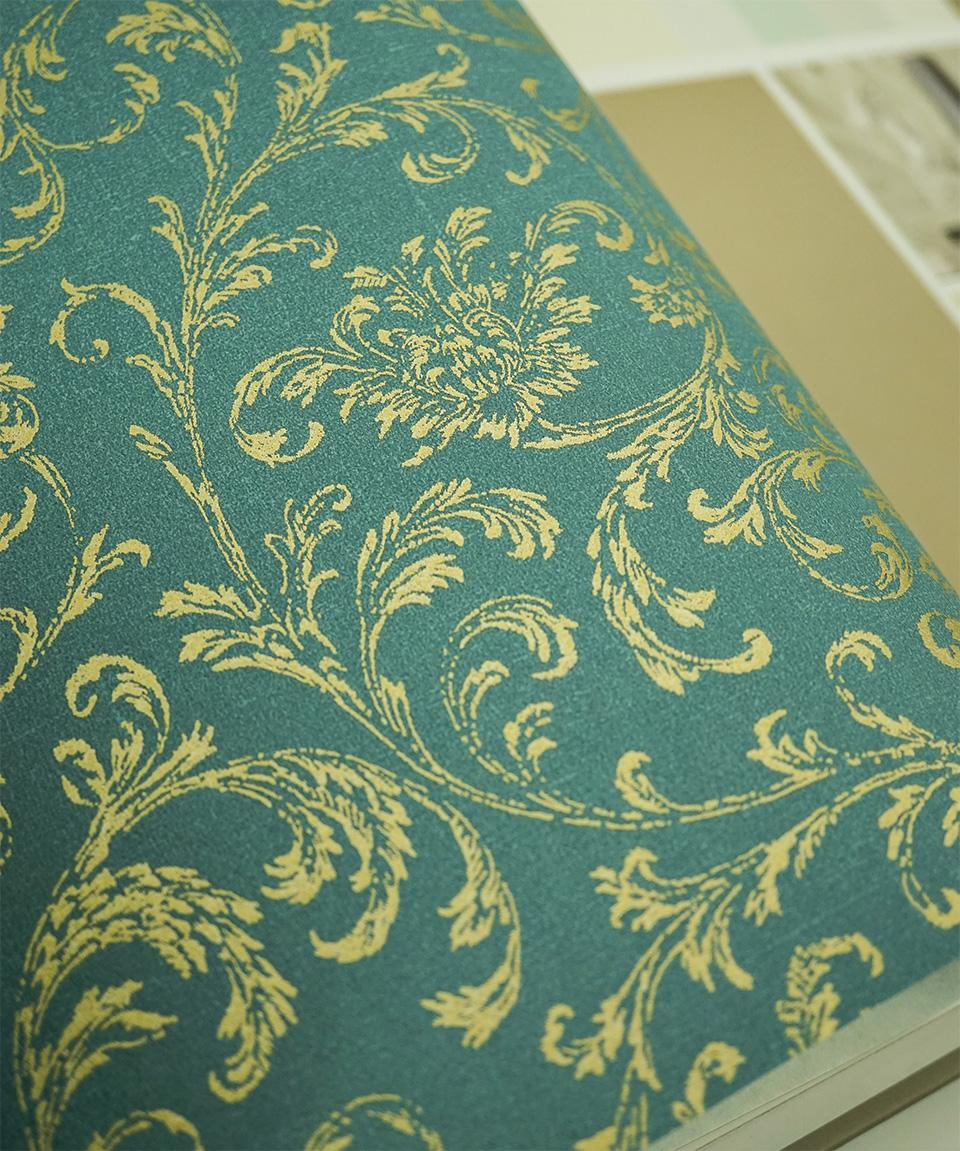 Royal Gold Leaves Florals Wallpaper Roll Tapeten Vintage Blumenmuster Discount Wallpaper Download Desktop Wallpapers From Georgely   Dhgate Com