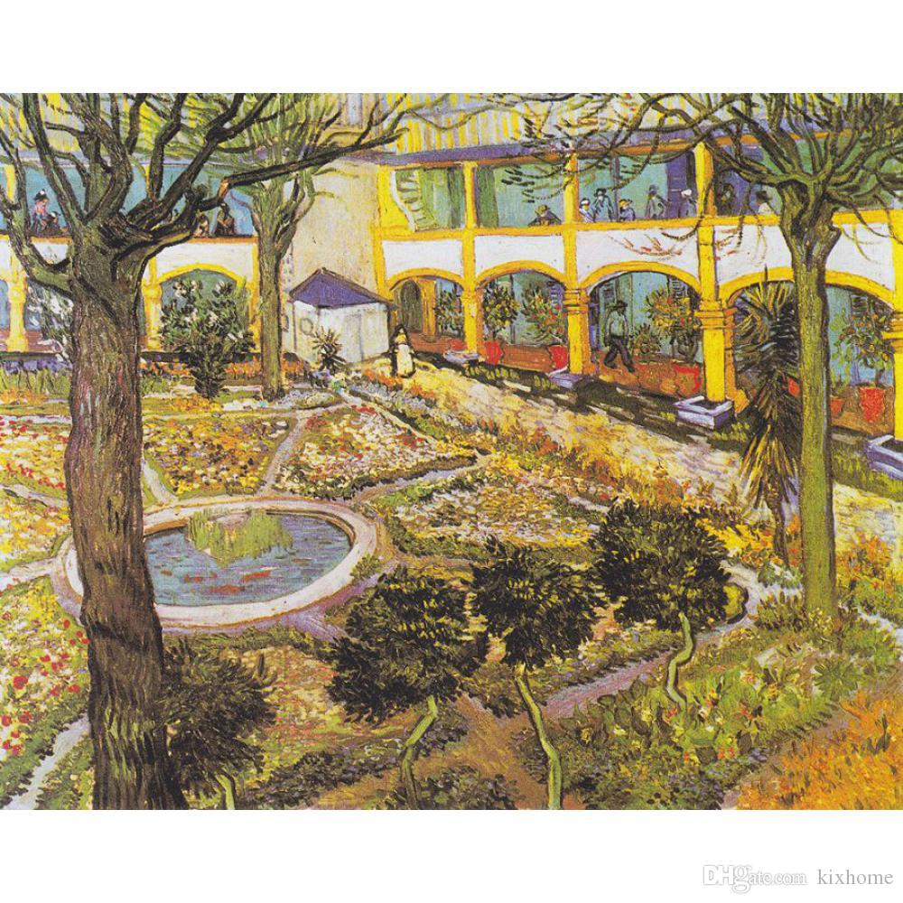 Charmant 2018 Handmade Art Oil Painting The Asylum Garden At Arles Vincent Van Gogh  Picture For Bedroom Decor High Quality From Kixhome, $126.64 | Dhgate.Com