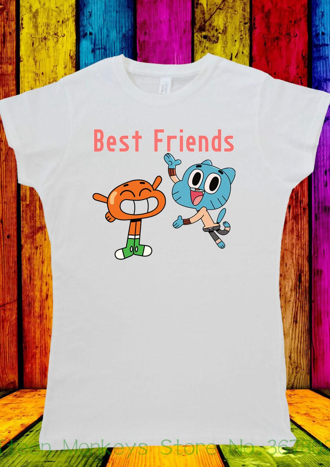 Acquista t shirt da donna best friend cartone animato gumball
