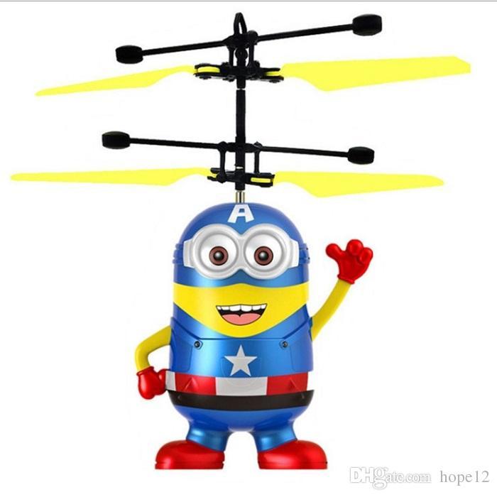 DHL Spedizione gratuita RC Elicottero Drone Bambini Giocattoli per bambini Volanti a sfera Aerei LED Lampeggiante Light Up Toy Sensore elettrico a induzione per bambini