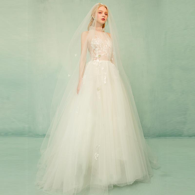 Vestidos de novia corte halter