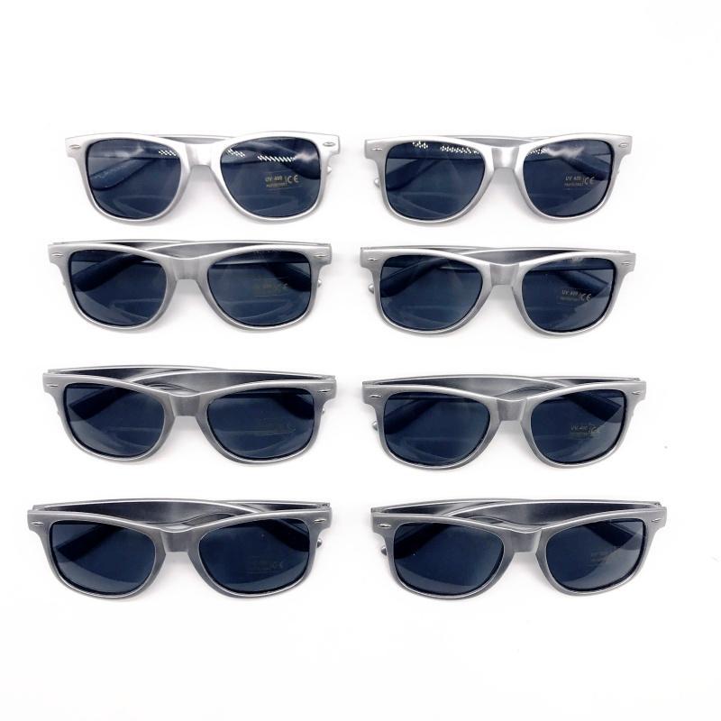 237eccb40b Wholesale Unisex 80 S Retro Style Bulk Promotional Silver Sunglasses ...