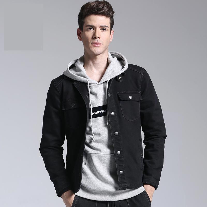 e002e3ac Compre Hombres Chaqueta Denim Jeans Chaquetas Y Abrigos Para El Otoño Casual  Slim Brand Clothing Cowboy Jeans Chaqueta 2018 Streetwear Para Hombre A  $78.03 ...