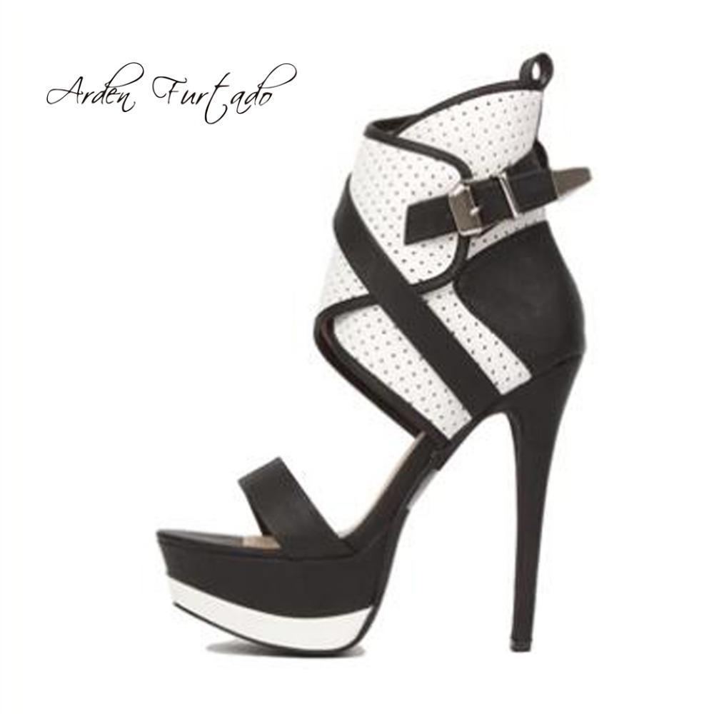 28df8d32bedfd Arden Furtado 2018 Summer Boots Platform Peep Toe Stilettos Evening Party  Shoes Ladies Cage Sandals Shoes For Woman Big Size Shoes For Sale Womens  Loafers ...