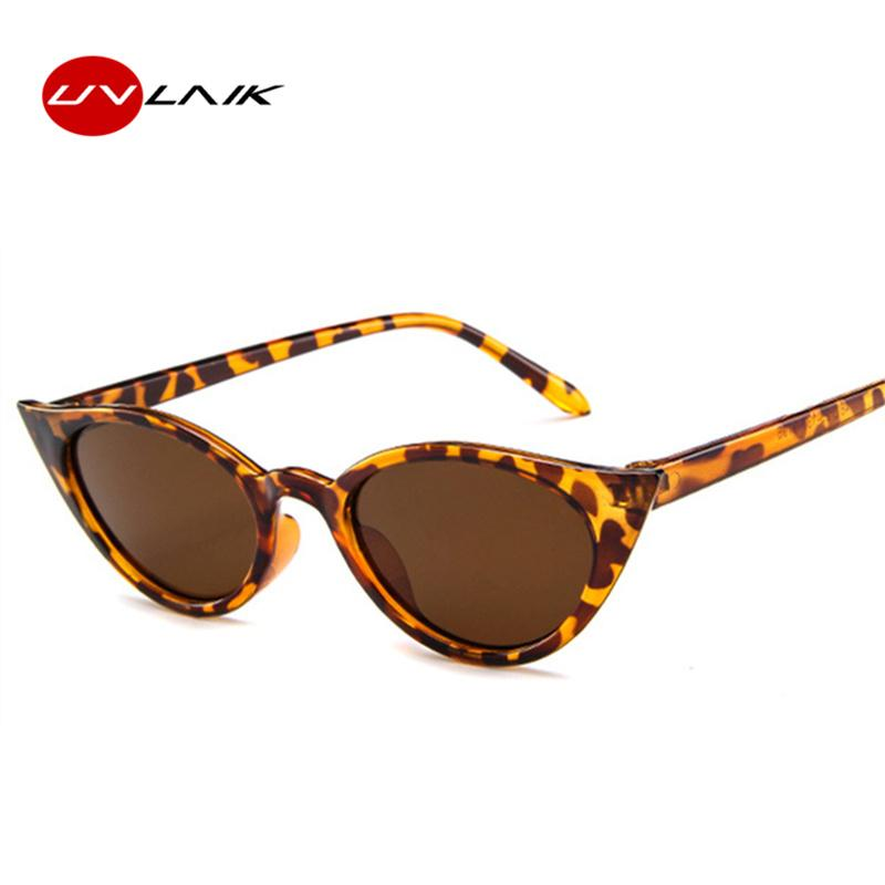 a6ea3bc76d9bc UVLAIK Vintage Cat Eye Sunglasses Women Small Oval Sun Glasses Ladies Black  Yellow Red Cheap Eyewear Female UV400 Prescription Sunglasses Online Black  ...