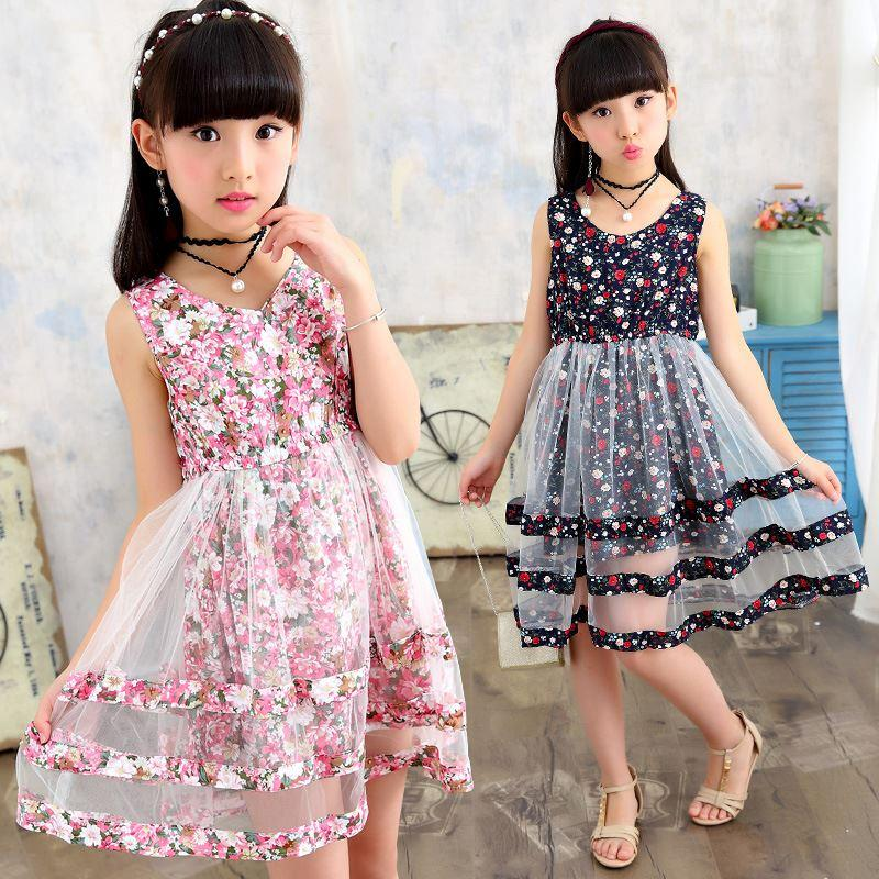 919a1ce007 2019 Floral Girls Dresses Bohemian Style Layered Dresses For Girls Fashion  Kids Teens Clothes Princess A Line Dresses For Girls From Guoli0005, ...