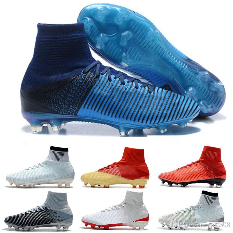 b0c5d1e20 Top Quality 2018 Mercurial Superfly FG CR7 Soccer Shoes Cristiano ...