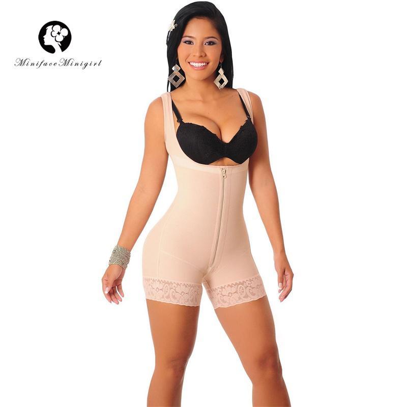 232933d8193ed 2019 Black Women Butt Lift Body Shaper Fat Control Full Body Bodysuits  Female Sexy Slimming Underwear Shapewear 4XL 5XL 6XL Plus Size From  Meinuo110