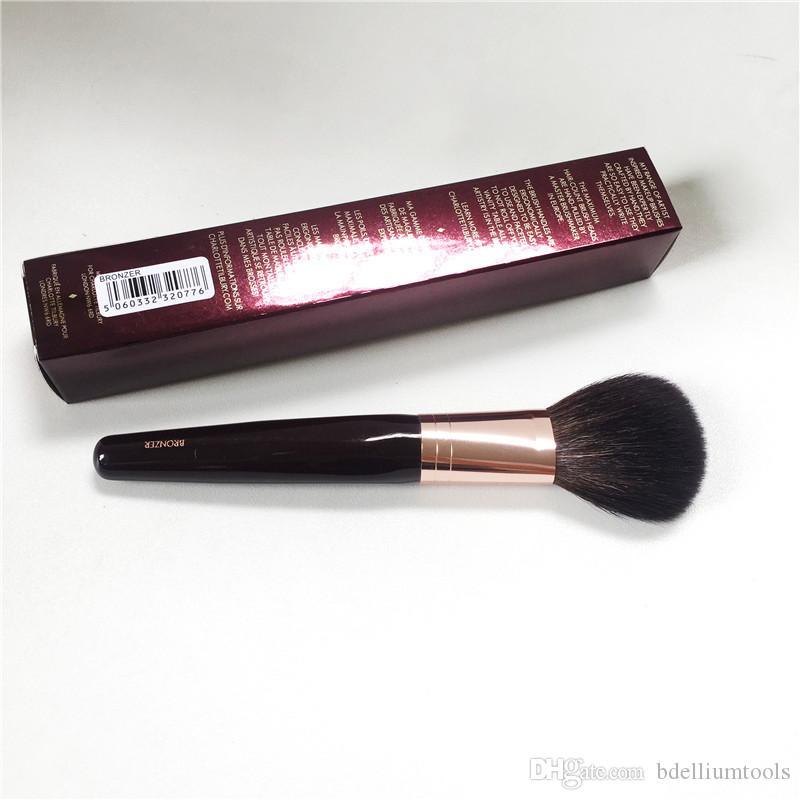 샬롯 테 블론저 브러쉬 - 다람쥐 헤어 염소 헤어 믹스 파우더 브러쉬 - Beauty Makeup Blender Tool Applicatior