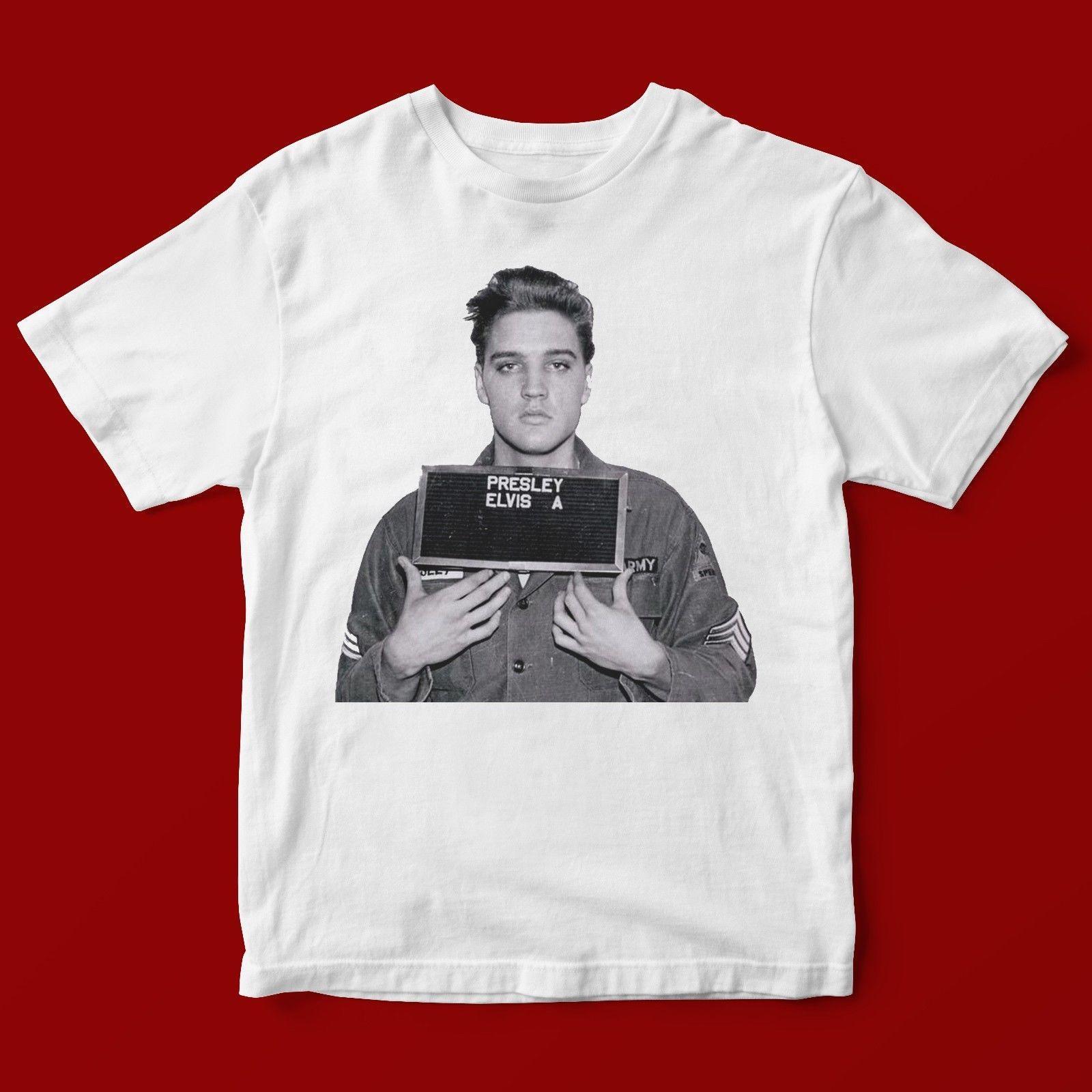 Elvis Presley T-Shirt Mens Mugshot Unisex Top