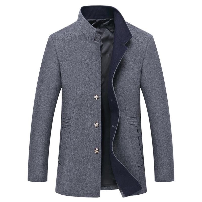 a9d77148 2019 Pure Color Stand Collar Men'S Long Sleeve Jackets High Quality Wool &  Polyester Fabric Coats Men Size S 3XL From Macloth, $92.72   DHgate.Com