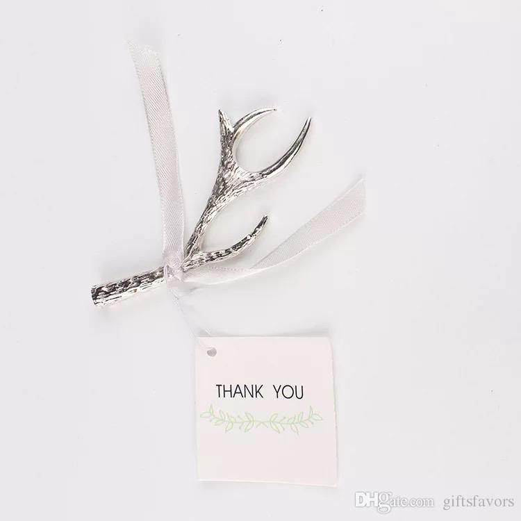 Серебряный рога открывалка для бутылок Сувениры для свадебного душа гостей возвращают подарки 50 шт. Много бесплатная доставка оптом