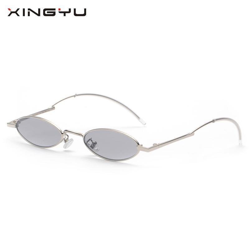 9353d0d0675 XINGYU Narrow Sunglasses Small Frame Metal Candy Color Yellow Red Clear  Lens Oval Sun Glasses For Men Women Unisex Summer Polarized Sunglasses  Sunglasses ...