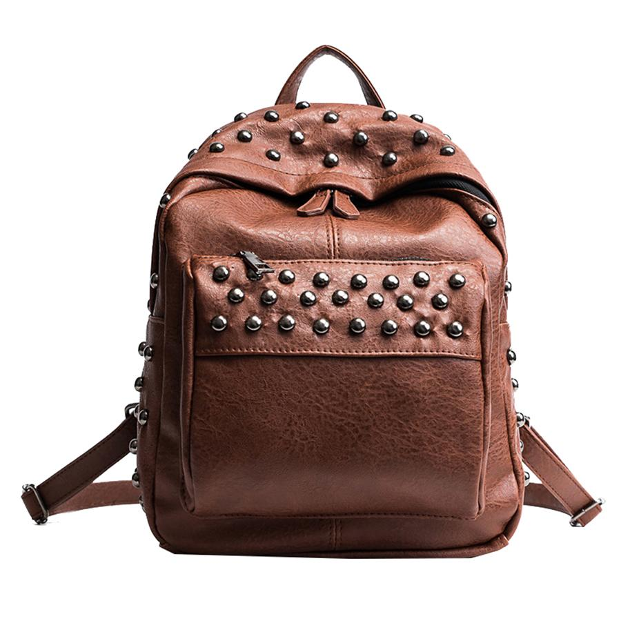 1258b0510b2 Wholesale Vintage Backpacks Women Fashion Rivets Bags Ladies Brand Designer  School Bag Female Luxury Back To School Bolsa Feminina 2018 Osprey Backpack  Tool ...