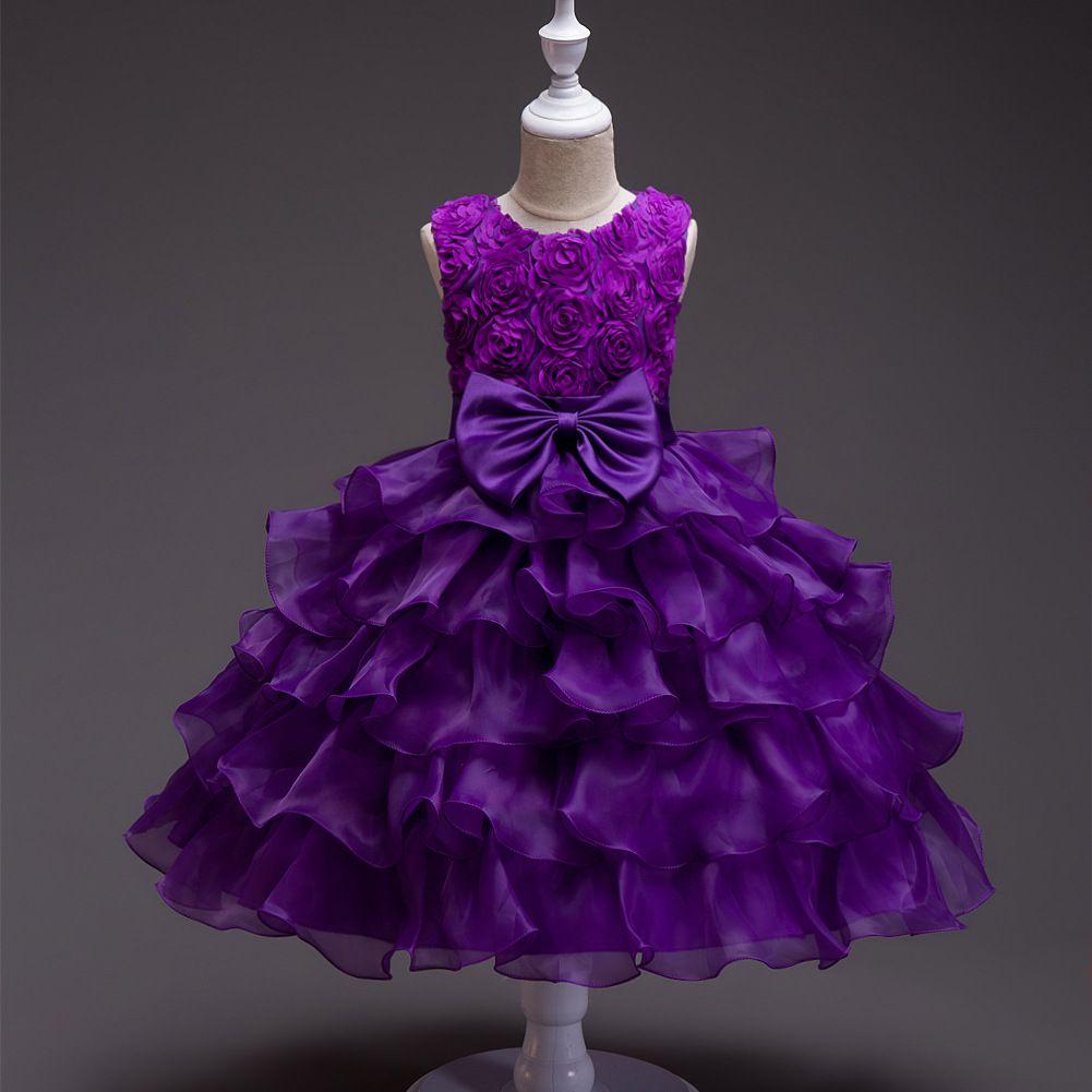 New Flower Girl Dresses Beading Princess Ball Grown O Neck