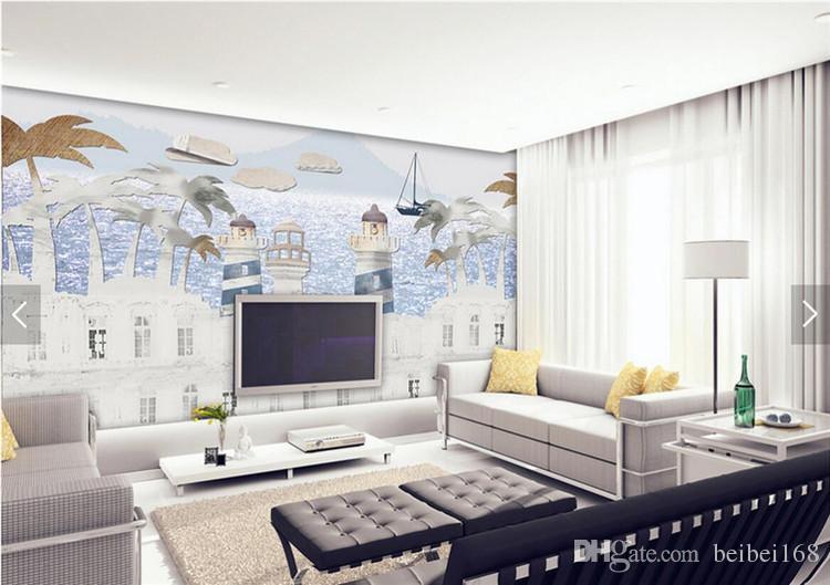 Großhandel Kinder Schlafzimmer Schloss Tapeten Wandbilder Hd Foto ...