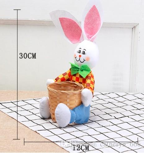 Easter Basket for Kids Bunny Bag for Easter Hunt 100% Ear Stand Up Bunny Handmade Easter Egg Basket for Candies Goodies DIY Gifts