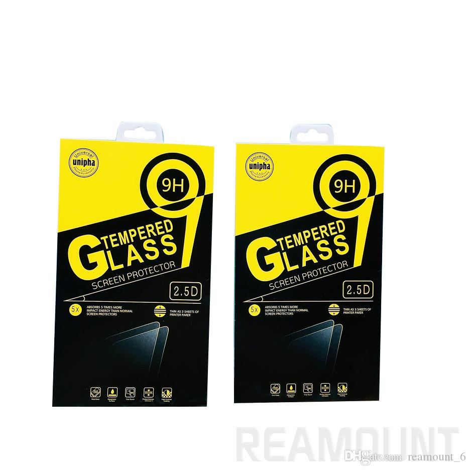 Retail Paper Packaging Box Package For Mobile Phone Tempered Glass Screen Protector Box For Apple iPhone Samsung Huawei OPPO