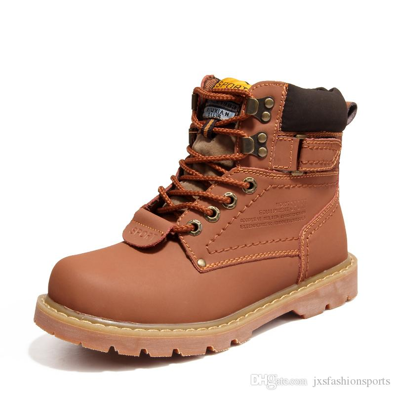 Brand New High-quality leather Martin Boots Brand New Mens Work Hiking boots Non-slip Outdoor Winter Warm Snow Boots
