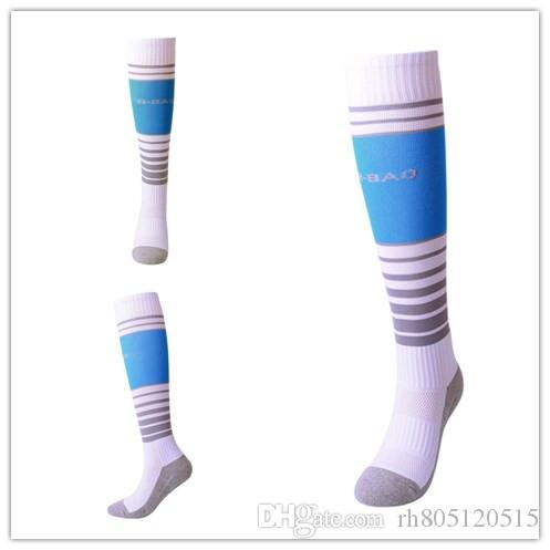Meias novas do futebol da transpiração respirável da parte inferior de toalha 8-13 anos de meias velhas da juventude.