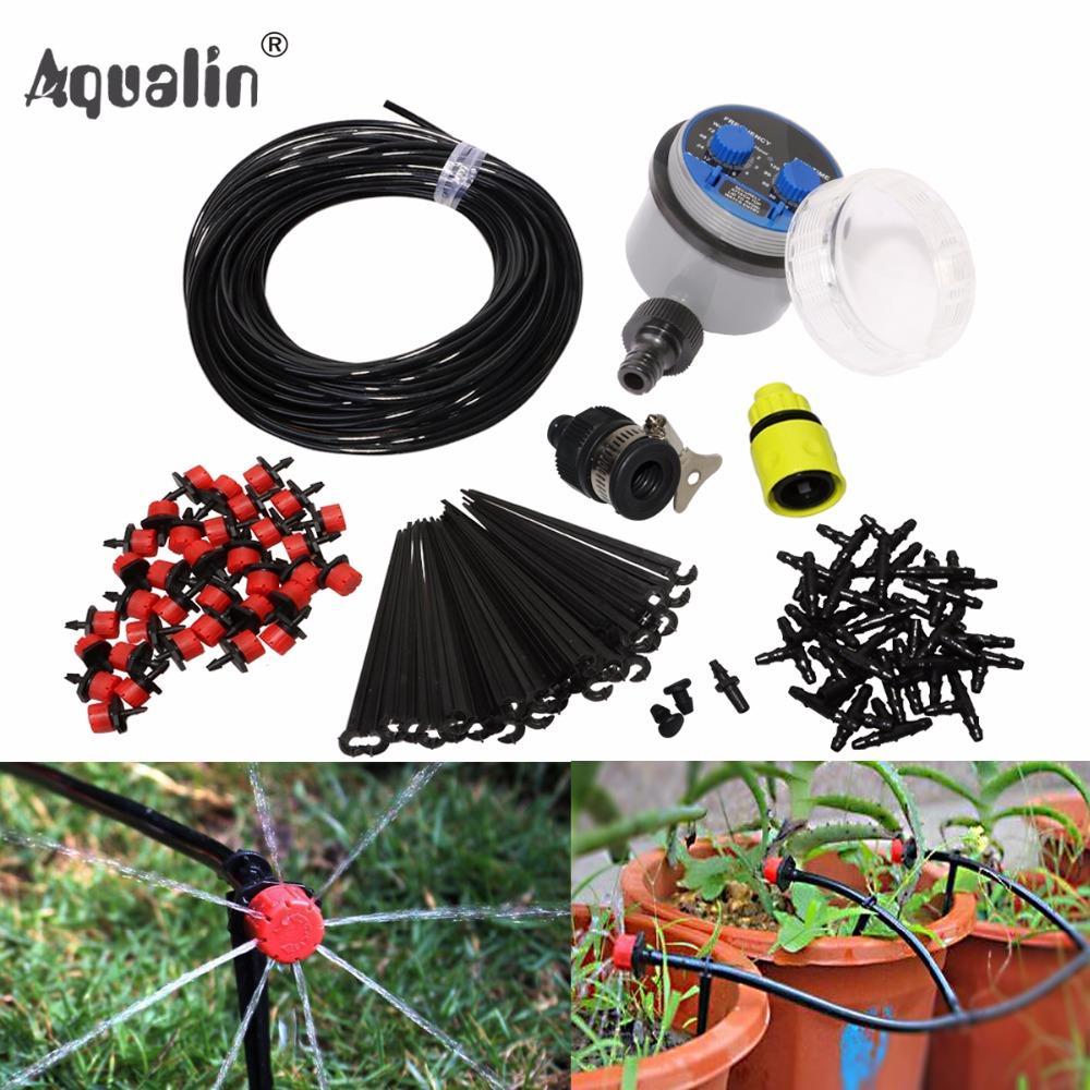 Acheter 25m Jardin Bricolage Arrosage Automatique Micro Irrigation Goutte À  Goutte Système Jardin Auto Arrosage Kits Avec Goutteur Réglable   21025i De  ... c8f066545ed3