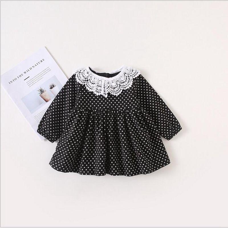 19aa54cf4 2019 Baby Girls Clothing Girls Dress Polka Dots Dresses Long Sleeve ...