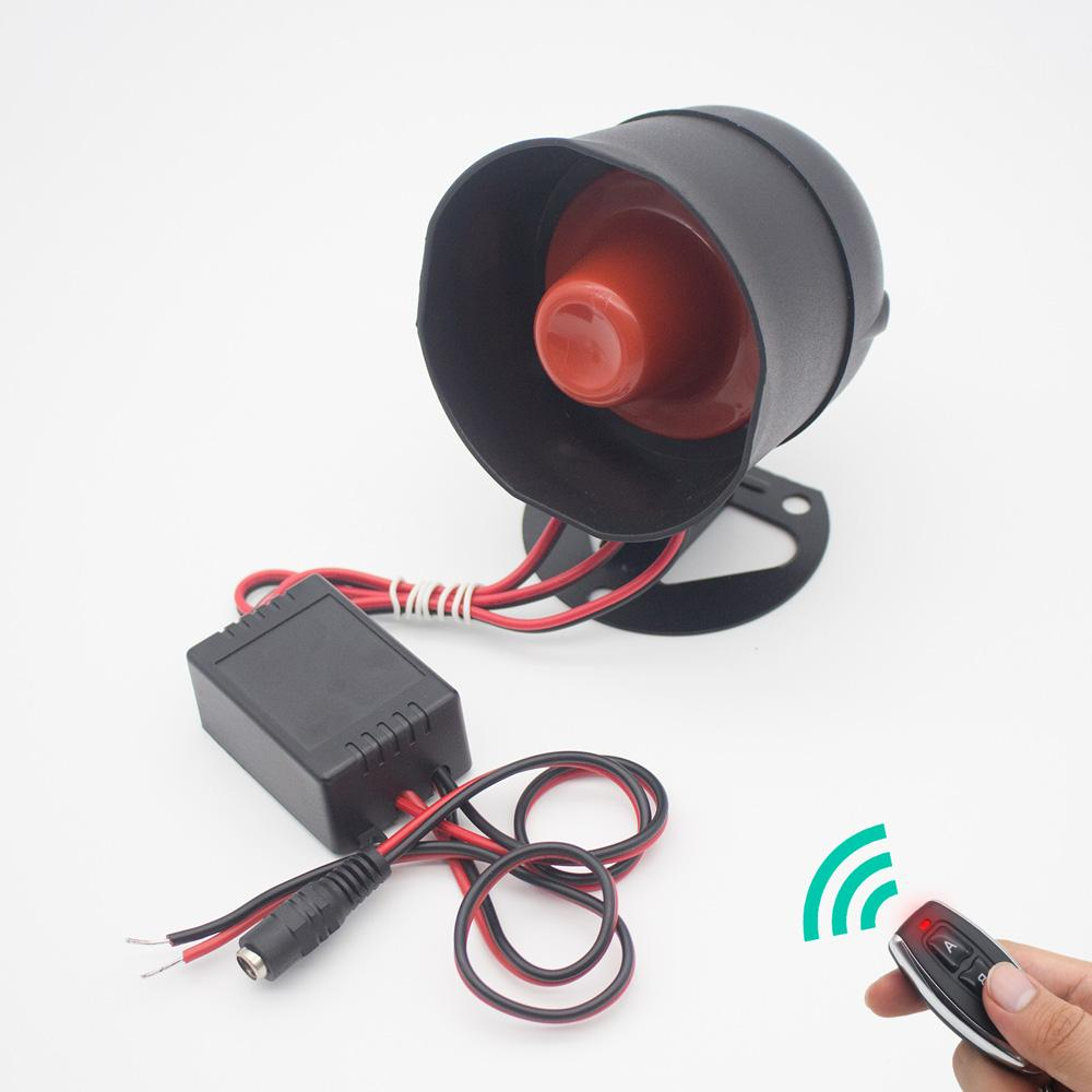 Remote Control Alarm Siren Horn, Loud Voice,Ideal for Home Security Protection System,Warehouse,Factory,School,Garage,Hotel