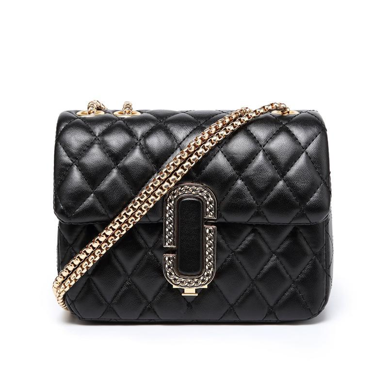 60c057957c76 The New Spring And Summer 2018 Korean Female Bag All Match Fashion Chain  Lingge Packet Simple Shoulder Diagonal Cross Bag Designer Purses Satchel  Bags From ...