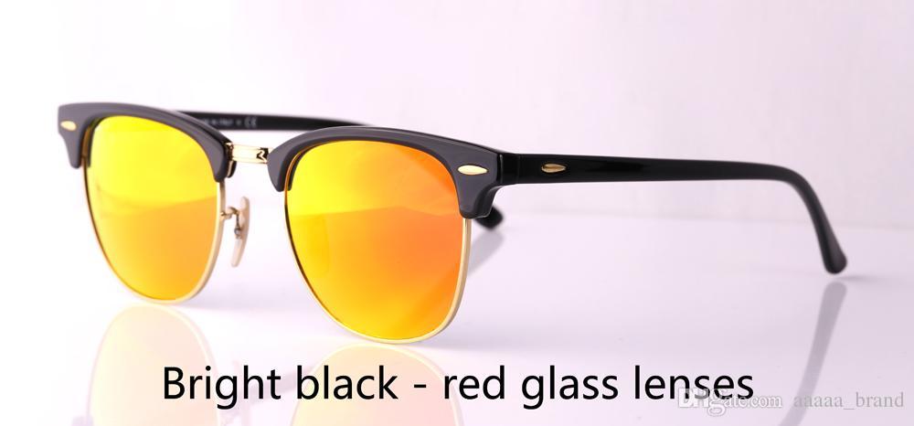 En kaliteli Cam mercek Marka Tasarımcı serbest durumda ve kutu ile erkekler kadınlar Plank çerçeve Metal menteşe Spor Vintage güneş gözlüğü güneş gözlüğü