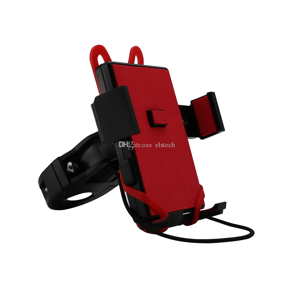 online retailer de29e 29d95 Red Fully Adjustable Bike Mount Motorcycle Phone Mount Car GPS Stand Holder  Cycling Electronics Accessories For Cell Phone GPS Free Shipping