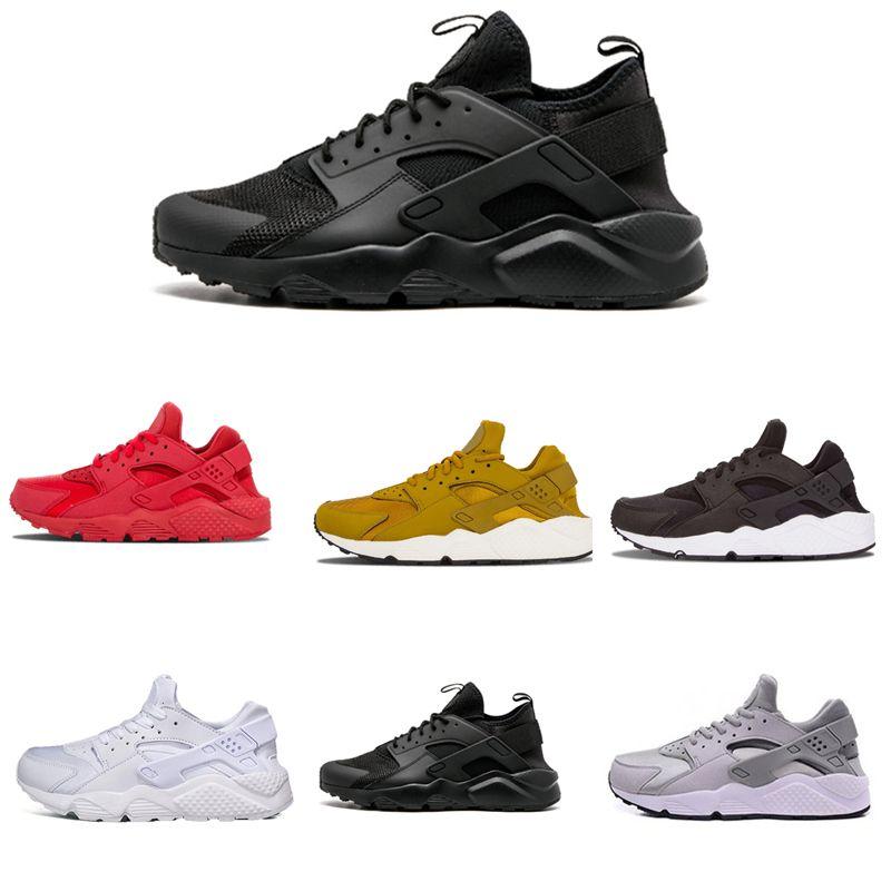 half off 13552 347f3 Großhandel Nike Air Huarache 1 2 3 I II III Huarache 1.0 Triple Weiß  Schwarz Rot Huraches 4.0 IV Gold Grau Turnschuhe Männer Frauen Im Freien  Huaraches ...