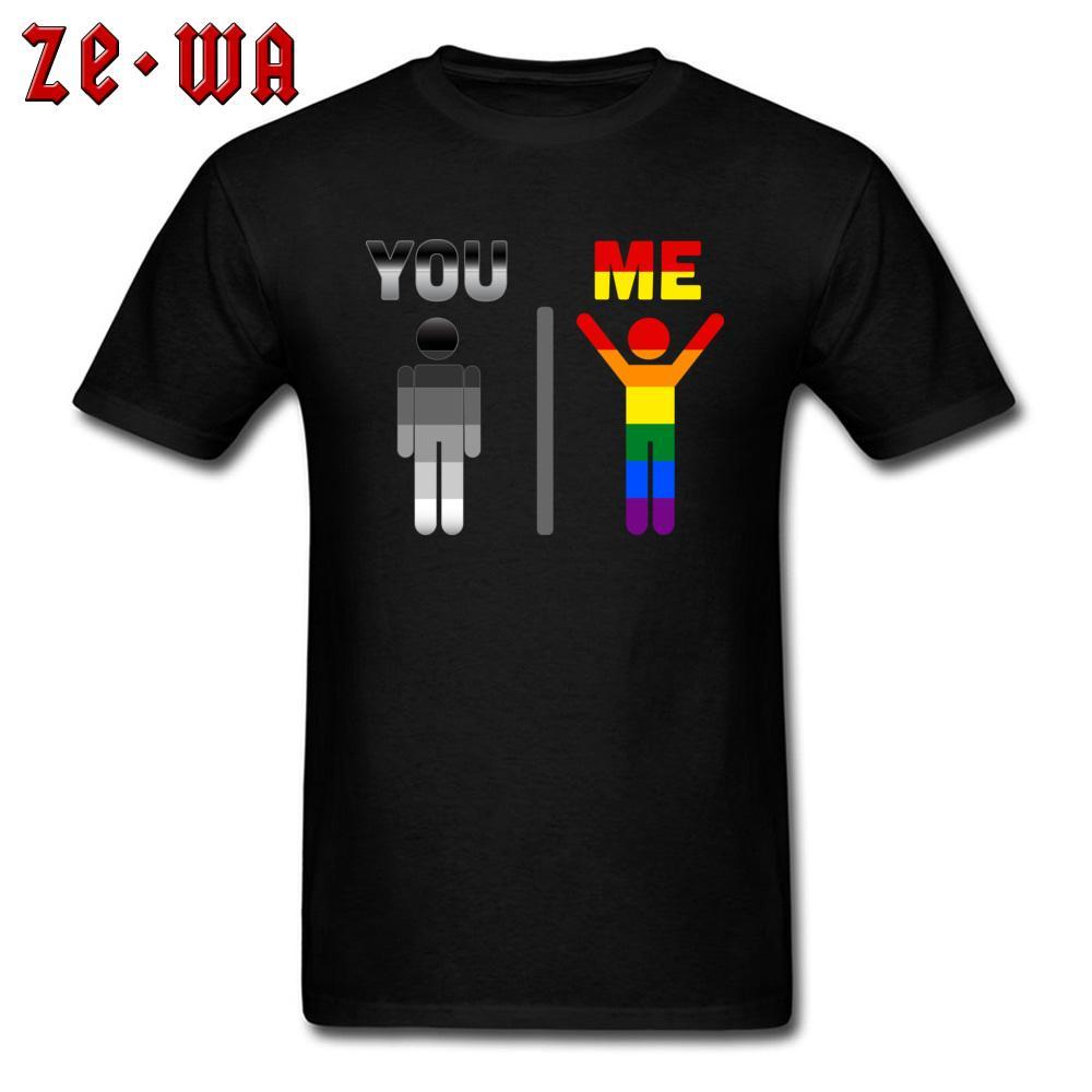 301d7086f69 LGBT You   Awesome Me T Shirt Gay Pride T Shirt Unique Design Summer Clothes  Cotton Black Tshirt Funny Tops Birthday Gift Tees Crazy T Shirts T Shirt  Prints ...