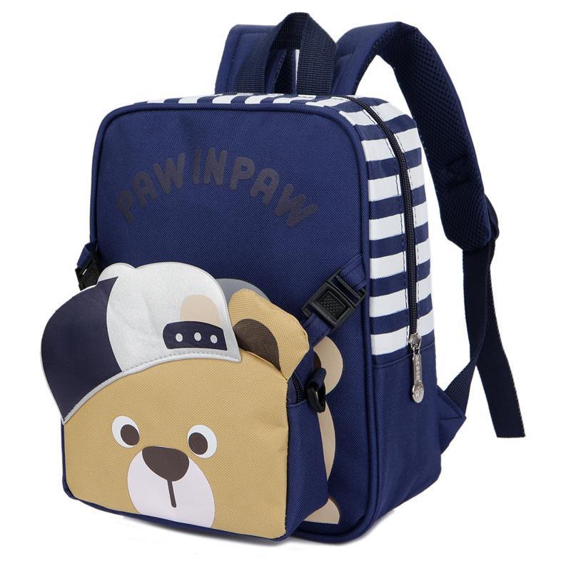 2018 New Teenager Student Backpacks Two Piece Cute Cartoon Animal