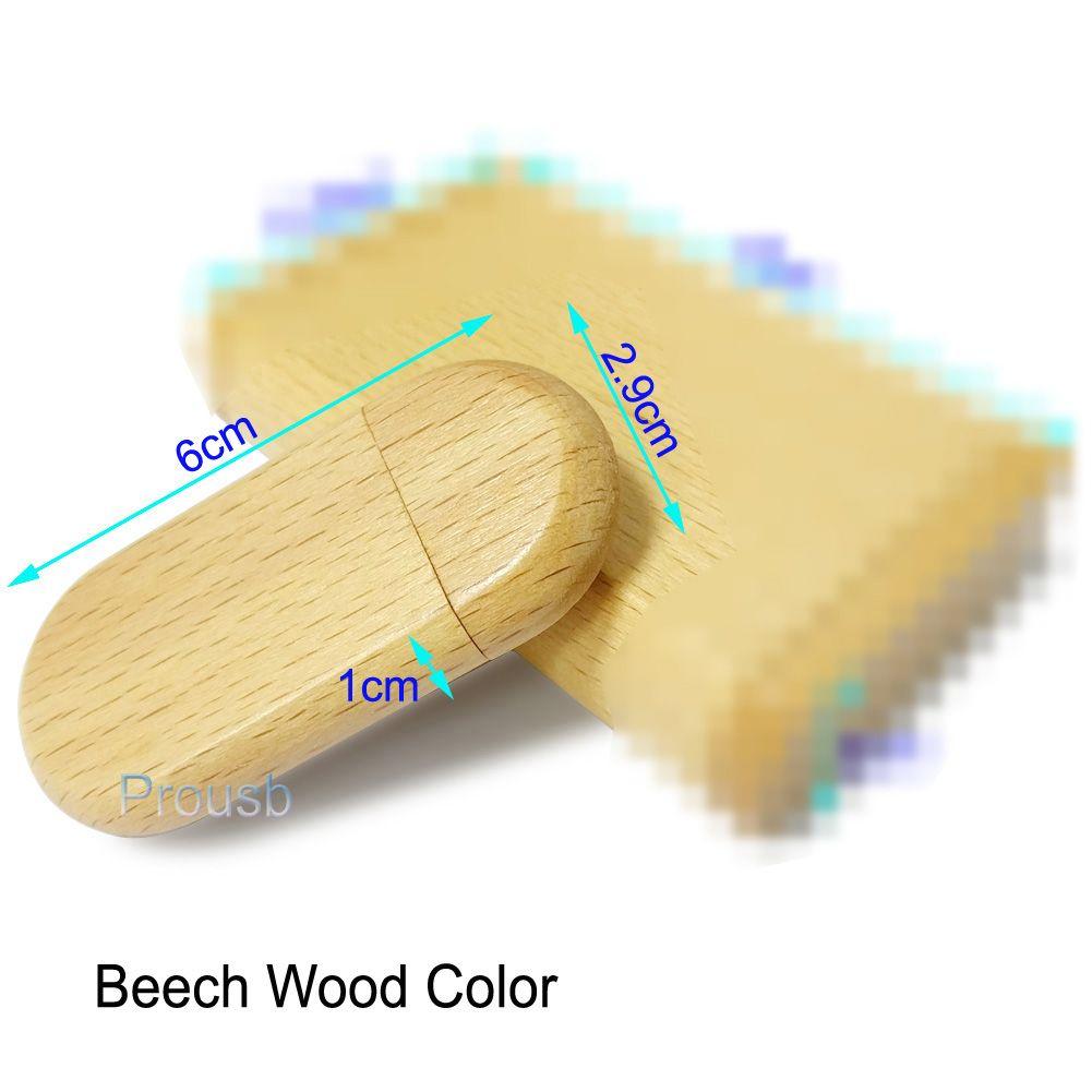1 Gb 2 Gb 4 Gb 8 Gb 16 Gb Mémoire Ovale En Bois Pendrive Bâtons Véritable Capacité Clé USB 2.0 Costume Pour Logo Gravé Au Laser