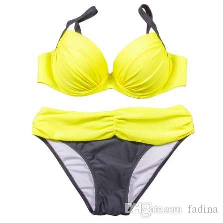 fb74f53e10b6 NAKIAEOI Sexy Bikinis Mujeres traje de Baño 2018 Verano Bañador de talle  bajo Halter Top Push Up Bikini Set Más Tamaño Swimwear XXL